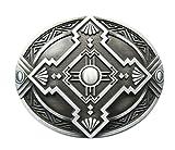 Gürtelschnalle Celtic Keltisch Schild Wikinger Kreuz 3D Optik für Wechselgürtel Gürtel Schnalle Buckle Modell 243 - Schnalle123