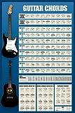 empireposter - Educational - Bildung - Gitarren Akkorde Version 4 - Größe (cm), ca. 61x91,5 - Poster, NEU -