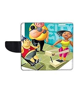 KolorEdge Printed Flip Cover For HTC Desire 516 - Multicolor(50KeMLogo8483HTC516)