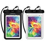 MoKo Wasserdichte Hülle, Staubdicht Handy/Tablet tasche für iPhone X, 8, 8 plus, 7 7 Plus, Galaxy Note8, Samsung Tab A 7.0/S2 8.0, ASUS ZenPad S 8.0, Tablet (bis zu 8.4