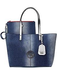 Guess - Bolso al hombro para mujer Azul azul One Size