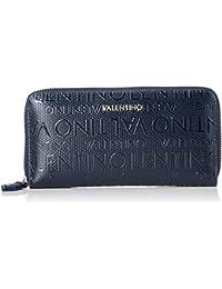 36b3e6453b Mario Valentino VPS1OM155, Portafogli Donna Blu Blu (Blu 002) 2.5x10x19 cm (