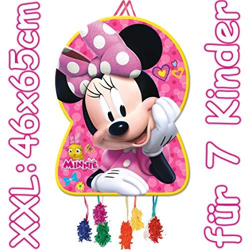 Riesengroße Pinata * Minnie Mouse * - als Zugpinata für Kindergeburtstag | Größe: 46x65xm | Piñata Mexiko Kinder Geburtstag Kindergeburtstag Spiele Spass Disney