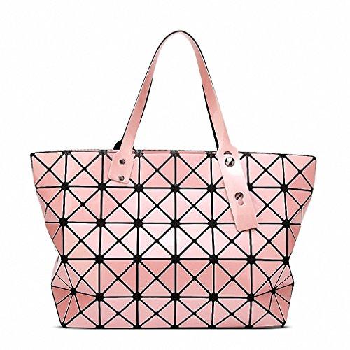 Ripiegamento del sacco a spalla Moda Borse Moda Donna Casual Tote maniglia superiore sacchetti classico al cioccolato Pink