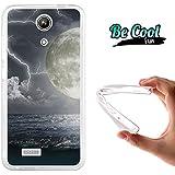 Becool® Fun - Funda Gel Flexible para Zopo Speed 7 ZP951, Carcasa TPU fabricada con la mejor Silicona, protege y se adapta a la perfección a tu Smartphone y con nuestro exclusivo diseño. Tormenta nocturna