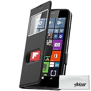 Housse, Étui folio S-view Cover 2x Fenêtres pour Microsoft Lumia 640 - Noir