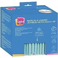 Tigex - 80890172 - Protections Jetables pour Matelas à Langer, Blanc, Lot de 20