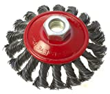 Toolzone 100mm M14 Semi Flat Twisted Wire Wheel