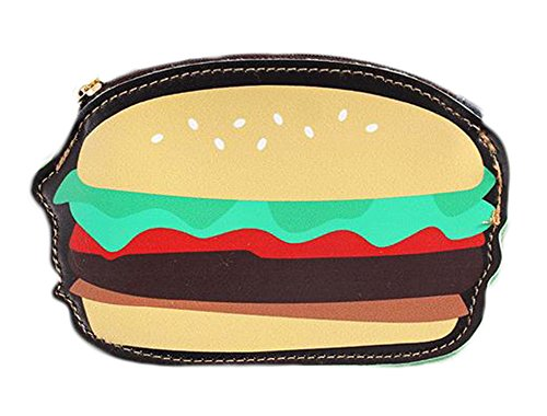 Dosige Mini Cheeseburger Coin Purse Wallet Key Holder Purse Clutch Bags for for Women Girls