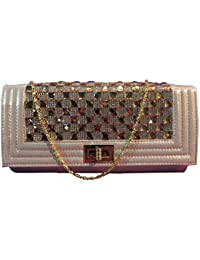 Pochette da donna 1st American elegante chic borsa a mano con strass e brillanti