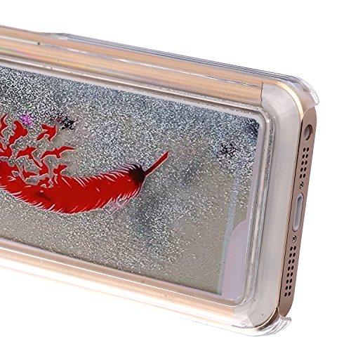 EMAXELERS Schutzhülle iPhone 5C Hülle Transparent Hardcase,iPhone 5C Hülle,iPhone 5C Case Cove,3D Kreativ Muster Transparent Hard Case Cover Hülle Etui für iPhone 5C,Rosa Herz Serie Bling Luxus Glitte Silver 13