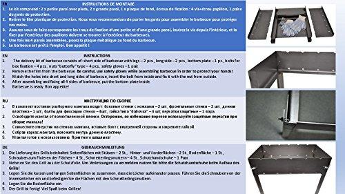 51AGNvqF5EL - Grill zerlegbar–Typ Mangal Russische oder Kaukasus–Montage und Demontage sehr einfache–klein–40x 28x 40cm