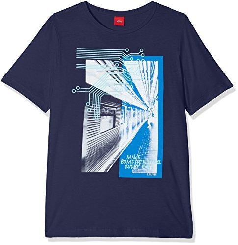 s.Oliver Jungen T-Shirt 61.803.32.6667, Blau (Dark Blue 5816), 152 (Herstellergröße: M/REG)