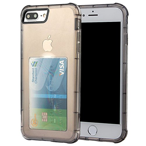xhorizon [Ultra Hybrid] [Coussin d'air] Pare-chocs d'absorption des chocs et anti-rayures Clear Back ultra mince couverture protectrice transparente avec Slot de carte cachée pour iPhone 7 Plus #2