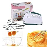 RD 72 Raj 72 Deals Scarlett 7-Speed Hand Mixer with 4 Pieces Stainless Blender, Egg Cake/Cream Mix, Standard, White
