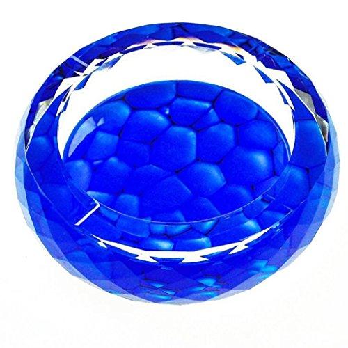 FACAIG Aschenbecher 3D Wasser Block Farbe für Das Muster Drucken Stil Runde Kristallglas Home Wohnzimmer Dekoration Rollsnownow (Größe: 25 cm) (Drucken Der Block Muster Kunst)