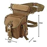 Marsupio da cintura, marsupio da gamba, tasca da gamba 900D, in nylon, per moto, anca, impermeabile, borsa per stoccaggio, viaggio, campeggio, escursionismo, sport, Kaki