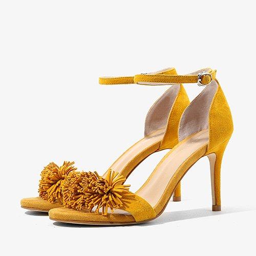 Sandales Femme D'été De Mode Confortables Hauts Talons, 37 Silver Yellow