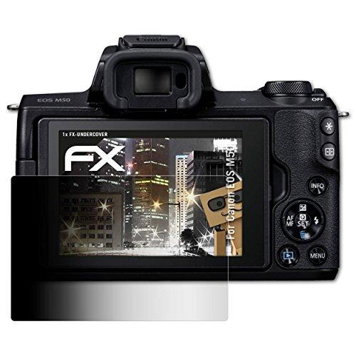 atFoliX Blickschutzfilter für Canon EOS M50 Blickschutzfolie - FX-Undercover 4-Wege Sichtschutz Displayschutzfolie