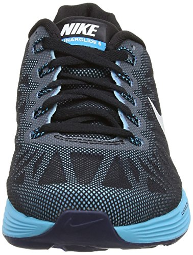 Nike Lunarglide 6, Running Entrainement Femme Noir (Black/White-Blue Lagoon-Clearwater)