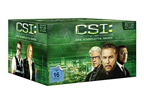 Produktbild CSI: Las Vegas - Komplettbox (Season 1-15 + Das Finale) (exklusiv bei Amazon.de) [Limited Edition] [91 DVDs]