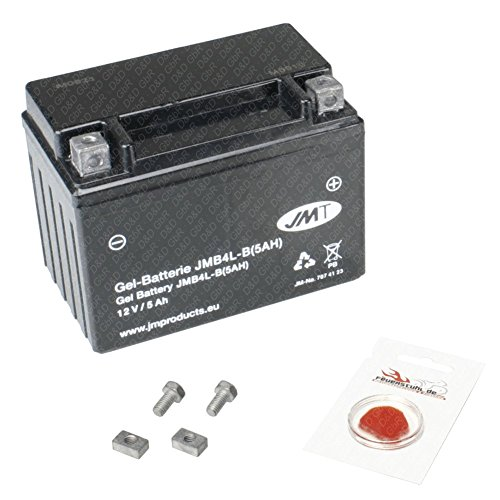 Gel-Batterie für Piaggio NRG Power 50 DT, 2005-2006 (C45300), wartungsfrei, 5 Ah, inkl. Pfand €7,50