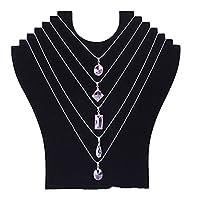 Bluelans® Black Velvet Multi Necklace Display Stand Bust Jewelry Holder Rack