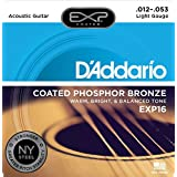 D'Addario EXP16 mit NY Steel Phosphor Bronze Akustikgitarre Saiten, Coated, Light, 12-53