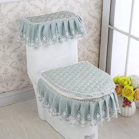 Art und Weise Samt-Toilettenpapier-Reißverschluss-Tuch-Spitze-drei Stück-Toiletten-Kissen, L
