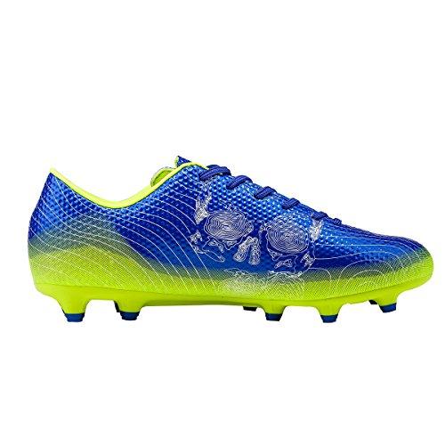 Ben Sports Tf AG FG Entraînement de Football Homme Garçon Chaussures de Football Mixte Adulte Enfant,33-45 AG/FG-Bleu