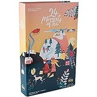 Lipton Idée Cadeau Calendrier de l'Avent Noël, Assortiment de 24 thés et Infusions Aromatisés et Non Aromatisés, Label Rainforest Alliance 48 Sachets
