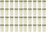 Beste Choice grave Light No. 3bianco con coperchio | tomba candela candele | cimitero cimitero tomba candela tomba monumento commemorativa candela cimitero luce decorativa, 40er Pack