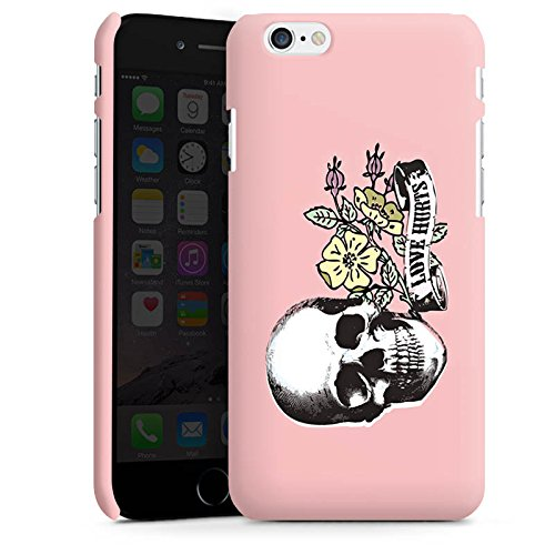 Apple iPhone X Silikon Hülle Case Schutzhülle Skull Love Hurts Flower Premium Case matt