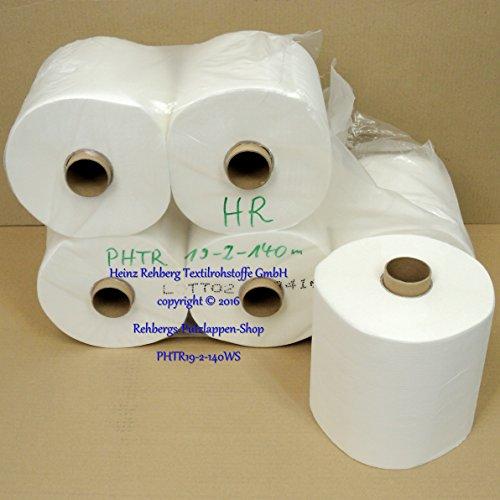 Rehberg´s Handtuchrollen 1 VE = 6 Papierrollen geeignet für Spender LOTUS enMotion Impulse und Tork-Spender H14 Rollenbreite 19 cm 140m 2-lagig mit ausziehbarem Doppelkern Ø-19cm -
