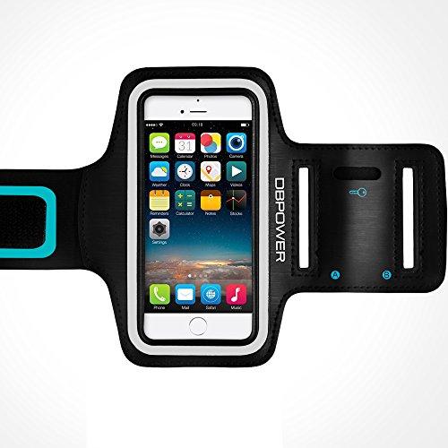 db DBPOWER Smartphone Armband Anpassbar Schwitzschutz Sport Armband Case mit Schlüsselring für iPhone 6Plus/Galaxy S6/Huawei P8/Honor