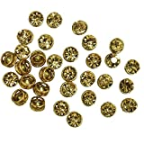 #5: Embroiderymaterial Kundans for Jewellery Making,Craft,Embroidery,Saree,Blouse Work and Dress Making(50 Pieces 9MM Round Shape Light Colorado Topaz)