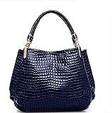 La Moda Femminile Classica Spalla Borsa Borsa Unica,Blue,36X29X11Cm,