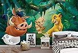 Wallsticker Warehouse Disney Lion King Vlies Fototapete Fotomural - Wandbild - Tapete - 368cm x 254cm / 4 Teilig - Gedrückt auf 130gsm Vlies - 3203V8 - Disney Der König der Löwen