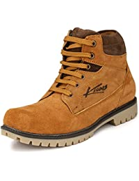 KNOOS Men's 100% Genuine Leather Combat Boots