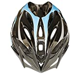 Moon Special Adult Sport Cycling Helmet In-Mold Tech,Mountain MTB&Road Dual Purpose with Removable Visor,Lightweight Design,EPS£¨Unisex Women Men£©[8.1 oz][21 vent]Blue&Black