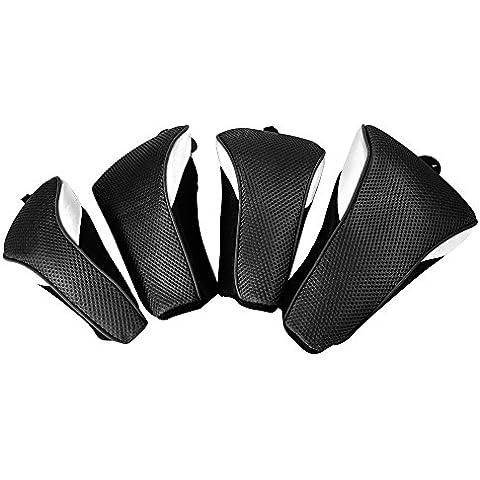 XCSOURCE 4pcs Golf Club di legno Lama Sacca copertura della testa sintetico Mesh Interchange protezione Boot Putter Set Nero OS730