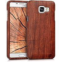 kwmobile Coque en bois véritable pour Samsung Galaxy A5 (2016) en bois de rose brun foncé