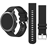 Happytop 20mm bande de remplacement Bracelet de montre bracelet pour S2/Moto/Vivoacive/Vivomove/Huawei, mixte, Noir
