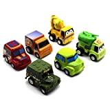 HuntGold 1X 6pcs Multicolor Mini Tire Car Model Juguetes educativos Regalos para niño (al azar)