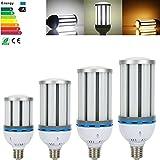 Derlight® E27E40LED maíz luz bombilla lámpara, Daywhite), luz blanca cálida, 360Degree iluminación, AC 85~ 265V, Blanco, 35W-E27 35.00 watts