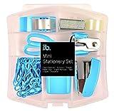 Mini Schreibwaren Set in Kunststoffbehälter - Blau