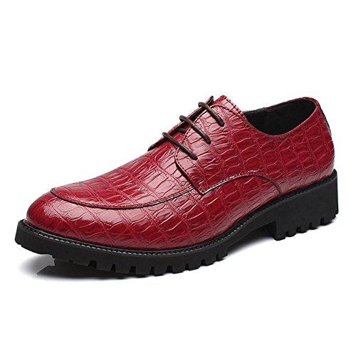 In pelle scarpe in autunno/Taglio basso pizzo scarpe casual di Inghilterra/Joker scarpe-B Lunghezza piede=25.3CM(10Inch)