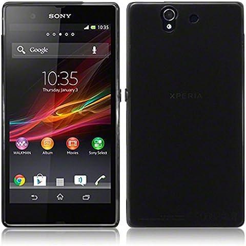TBOC® Funda de Gel TPU Negra para Sony Xperia Z L36h de Silicona Ultrafina y Flexible