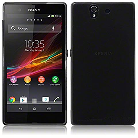 TBOC® Schwarz Gel TPU Hülle für Sony Xperia Z L36h Ultradünn Flexibel Silikonhülle