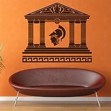 Templo Griego vinilos decorativo Soldado romano adhesivos pegatina pared Escuela Educativa Decoración del hogar disponible en 5 tamaños y 25 colores X-Grande Musgo Verde